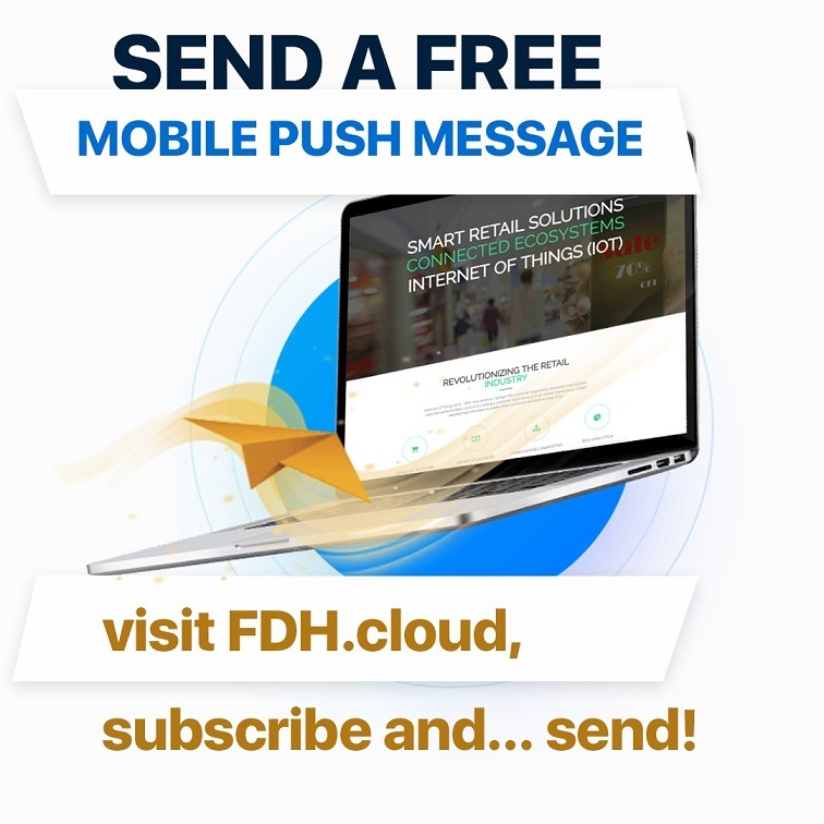 Send free web-push messages and promote your business!